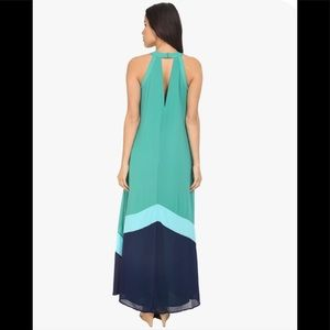 Adelyn Rae Synthetic Color Block Maxi Dress